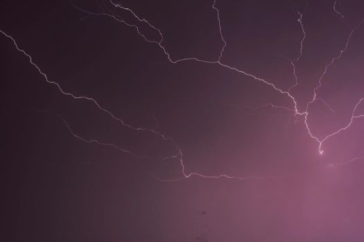 Lightning over Brunei by Hailoluna