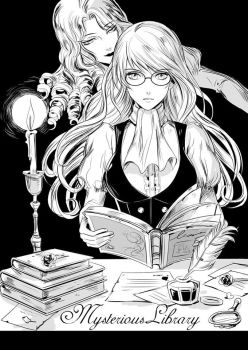 Mysterious Library by setsuna1111