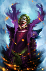 BatmanNinja- Joker by AkiMao