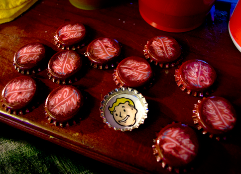 Fallout Bottlecap Prototypes by ZoeQuinn