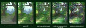 Elven Forest Process by JKRoots