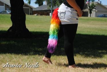 Rainbow Sectioned Tail For Sale (SOLD) by KiKiArekkusu