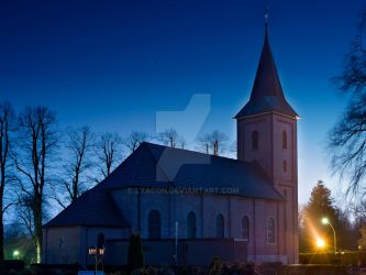 Church @ night by Lyacon