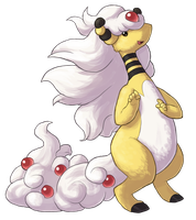 Type Collab: Electric - Mega Ampharos by Krisantyne
