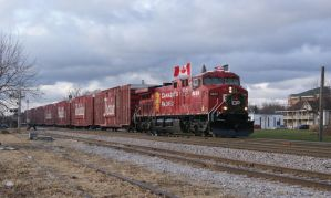 CP Holiday Train 2012 Heading for Gurnee by JamesT4