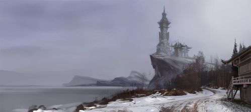 Winter lakeshore (artbook) by AnDary