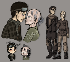 Sloppy Fallout4 scetches by crashXcourse