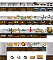 RPG Maker VX/Ace - Kitchen Cabinets by Ayene-chan