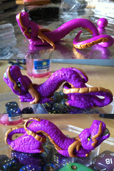 My First Sculpey Try: Chinese Dragon by MinorTechnicality