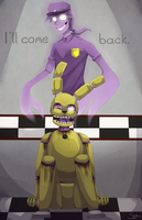 .:He'll come back:. FNAF3 + SPEEDPAINT by suyorii