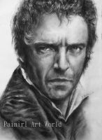 Les Miserables - Hugh Jackman by Painirl
