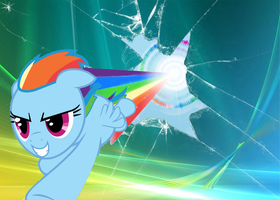 Rainbow Dash Desktop by TTD33x