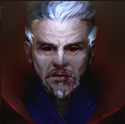 Dr. Strange as a ghoul by DaOneMaika