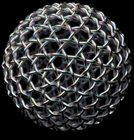 Geodesic Ball - Silver Weave by TaffGoch