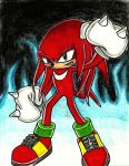 Knuckles The Echidna SA style :CW: by TatsuoMizushima