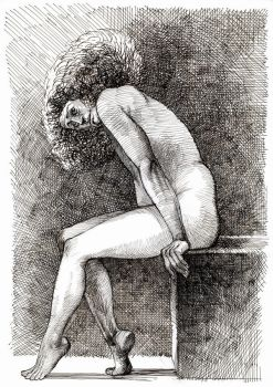 Seated study by andreuccettiart