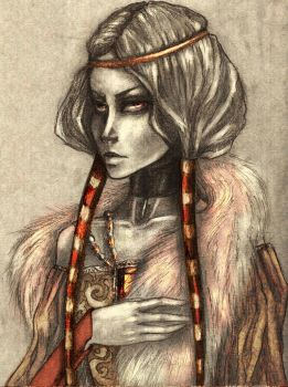 The Bloody Lady of Chahtice by perky-brat