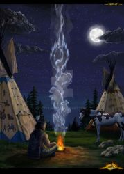 Native American spirit by halil-art