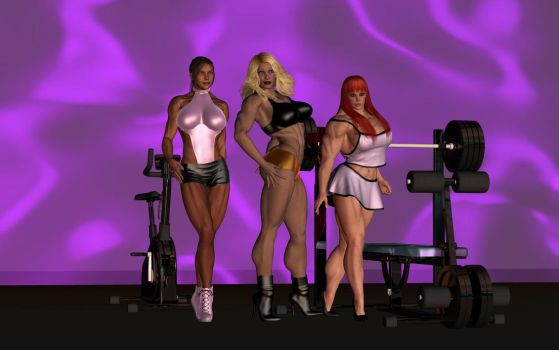 Meg, Diana, and Jewel in gym by cele7110