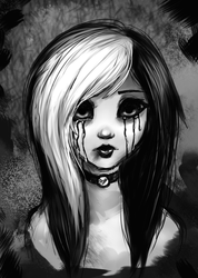 Monochrome Melancholy by L-L-arts