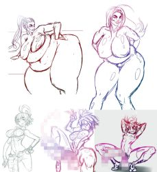 NSFW colletcion sketches by ChocFutachan