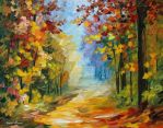 Early Morning In The Woods by Leonid Afremov
