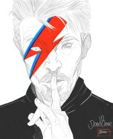 Toni Gutierrez Art David Bowie 2 by Lion542