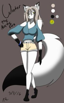 Winter Maddisan the Arctic Fox by AsiaTheAnimator