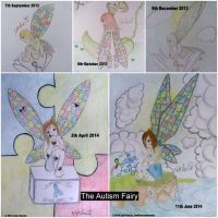 The Autism Fairy collage of 2013 and 2014 by JoshGarciaArtworks