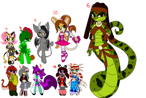 So Many Adopts closed by Mongoosegoddess