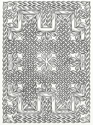 Gumnut Celtic Knot Decorative Panel Drawing by LorraineKelly