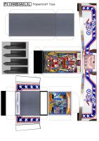 Evel Knievel pinball machine papercraft template by MisterBill82