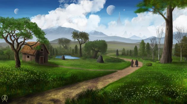 The Path of Two Travelers by Spacepretzel
