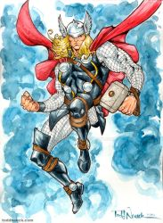 Thor watercolor by ToddNauck