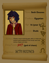 SETH DOONES STUDENT APP YEAR TWO by Pikaronii