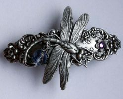 Dragonfly hair clip by Pinkabsinthe