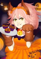 Tamamo Halloween by tou-chan