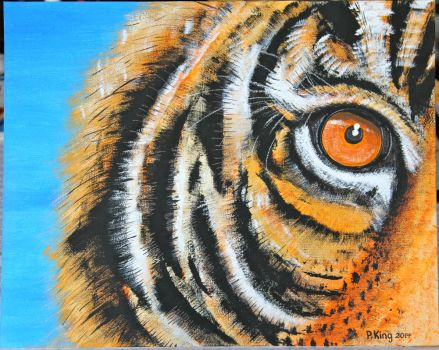 Tiger on Canvas Finished by krystalart-1959