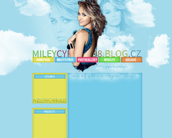 Miley Cyrus layout 2 by VelvetHorse