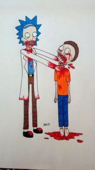zombie Rick and Morty doodle by SailorsMouth