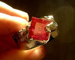 Cast ring experiment ruby by fairyfrog