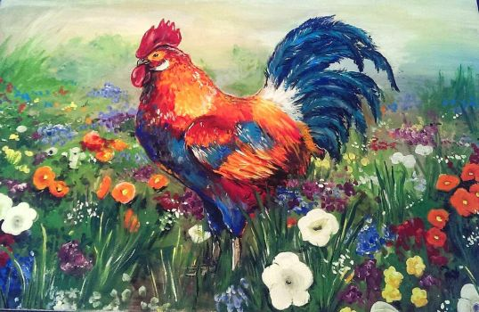 Rooster by Katia-Gagne
