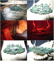 Amulet of the Hound (Real Jade) by vonmeer