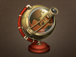 Steampunk - Web Browser icon by wakaba556