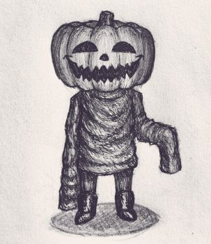 spooky little man by Leightoons