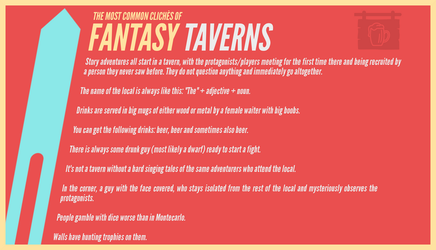 The most common cliches of fantasy: TAVERNS by RandomVanGloboii