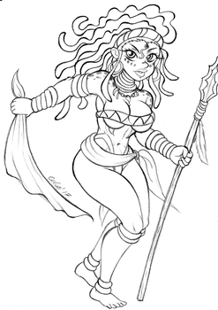 Sketch : Zahra ! by Celso33