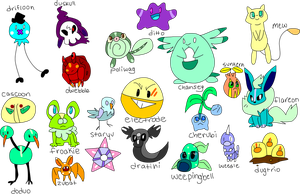 (CLOSED) 21 Free Miscolored Pokemon Adoptables