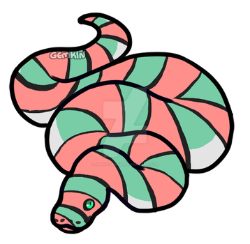 Peppermint Python Adopt, 30 Points *Open* by Magmosa