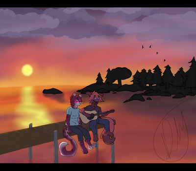 Music At The Dock by blackeyes22